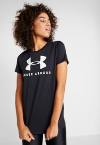 Under Armour - GRAPHIC SPORTSTYLE CLASSIC CREW - T-shirts print - black/onyx white - 0