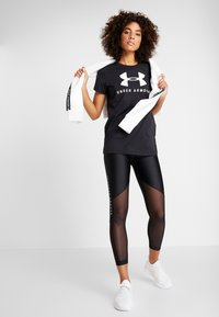 Under Armour - GRAPHIC SPORTSTYLE CLASSIC CREW - T-shirts print - black/onyx white - 1