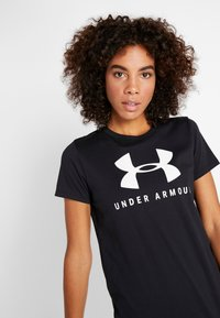 Under Armour - GRAPHIC SPORTSTYLE CLASSIC CREW - T-shirts print - black/onyx white - 3