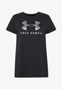 Under Armour - GRAPHIC SPORTSTYLE CLASSIC CREW - T-shirts med print - black/iridescent - 3