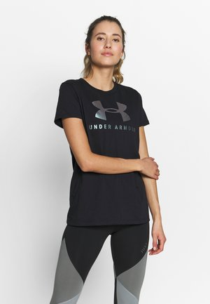 GRAPHIC SPORTSTYLE CLASSIC CREW - T-shirt print - black/iridescent