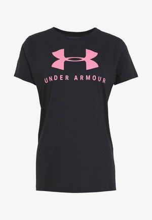 GRAPHIC SPORTSTYLE CLASSIC CREW - Camiseta estampada - black/lipstick