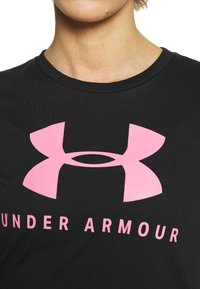 Under Armour - GRAPHIC SPORTSTYLE CLASSIC CREW - Print T-shirt - black/lipstick - 5