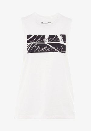 GRAPHIC BOX SCRIPT MUSCLE TANK - Sports shirt - onyx white/black