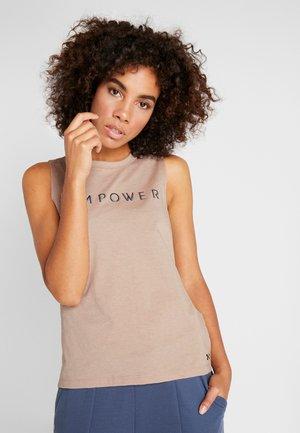GRAPHIC EMPOWER MUSCLE TANK - Treningsskjorter - blush beige medium heather/black