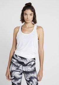 Under Armour - WHISPERLIGHT TIE BACK TANK - Top - white/metallic silver - 0