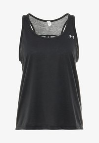 Under Armour - WHISPERLIGHT TIE BACK TANK - Top - black/metallic silver - 3