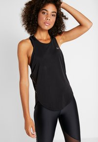 Under Armour - SPORT GRAPHIC TANK - Koszulka sportowa - black/metallic silver - 0