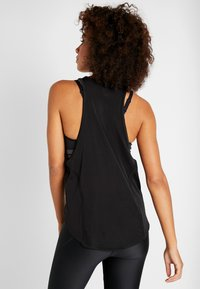 Under Armour - SPORT GRAPHIC TANK - Koszulka sportowa - black/metallic silver - 2