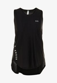 Under Armour - SPORT GRAPHIC TANK - Funkční triko - black/metallic silver - 4