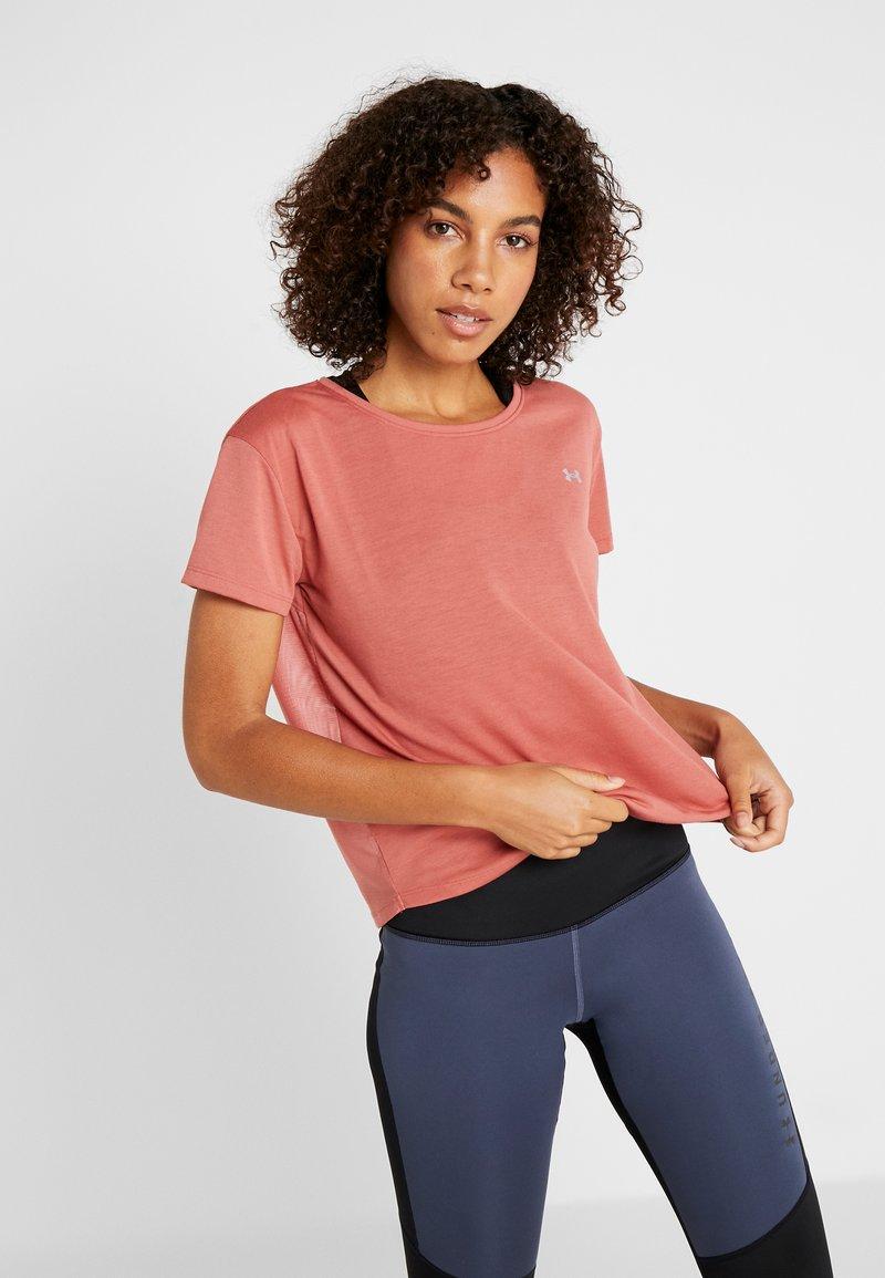 Under Armour - WHISPERLIGHT - Print T-shirt - fractal pink/metallic silver