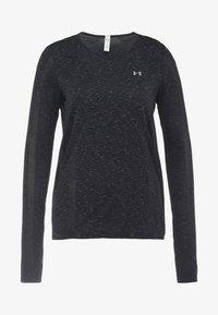 Under Armour - VANISH SEAMLESS SPACEDYE - T-shirt de sport - black/pitch gray/metallic silver - 3