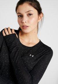 Under Armour - VANISH SEAMLESS SPACEDYE - T-shirt de sport - black/pitch gray/metallic silver - 4