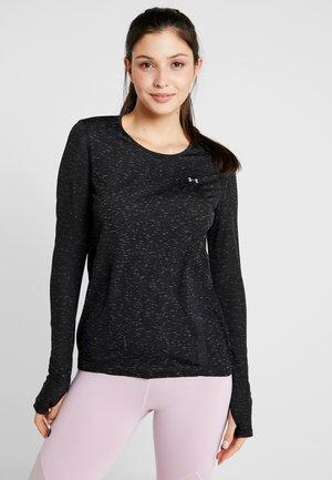 VANISH SEAMLESS SPACEDYE - Sports shirt - black/pitch gray/metallic silver
