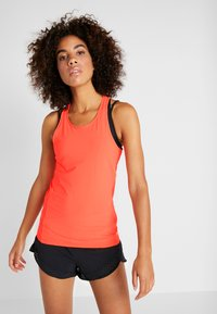Under Armour - PERPETUAL FITTED TANK - Top - peach plasma/metallic cristal gold - 0