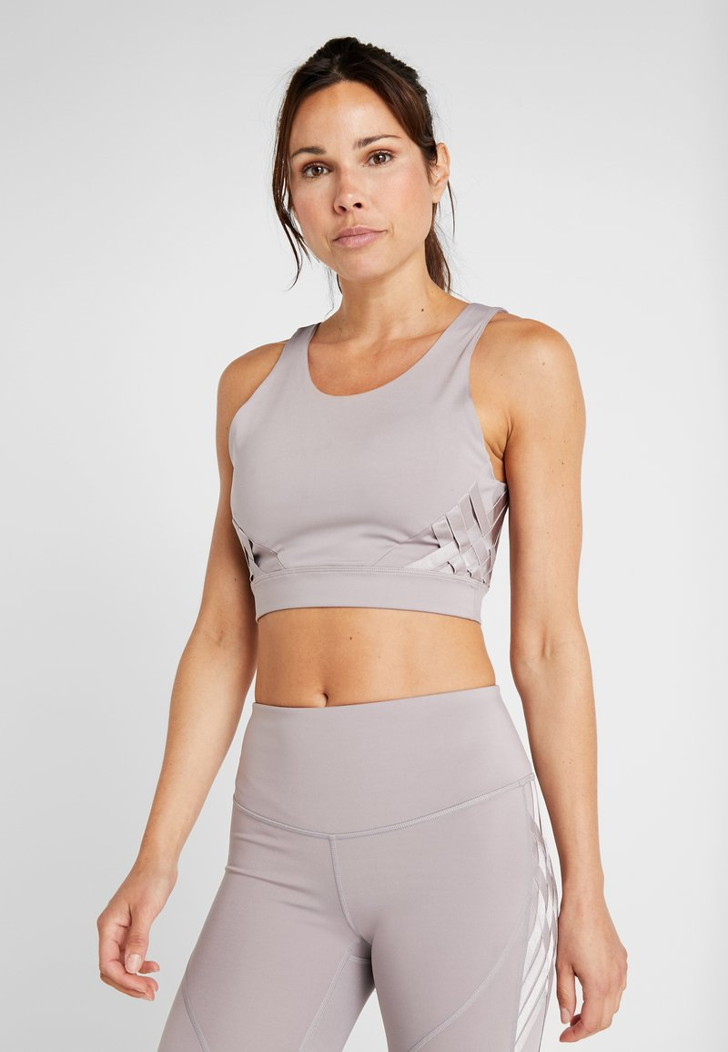 Under Armour - MISTY CROP - Topper - tetra gray
