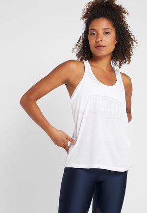 PROJECT ROCK DAMEN - Sportshirt - white/gray flux