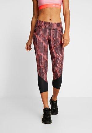 FLY FAST HEATGEAR CROP - Pantalon 3/4 de sport - dark red