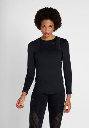 UA RUSH LS - Koszulka sportowa - black