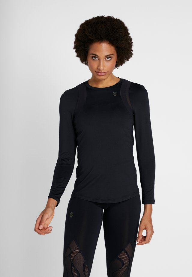 UA RUSH LS - T-shirt sportiva - black