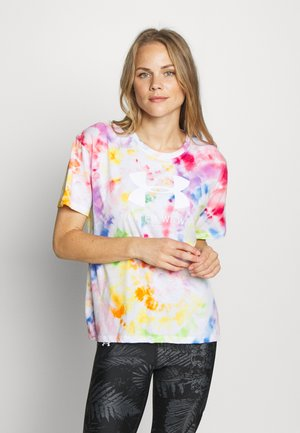 PRIDE TIE DYE GRAPHIC - Print T-shirt - multicolor/white