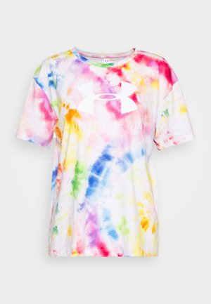 PRIDE TIE DYE GRAPHIC - T-shirts med print - multicolor/white