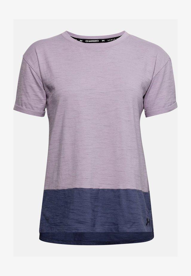 CHARGED  - Print T-shirt - purple haze