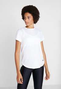 Under Armour - SPORT CROSSBACK - T-shirt print - white/black - 0
