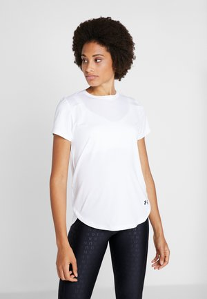 ARMOUR SPORT CROSSBACK - Camiseta estampada - white/black