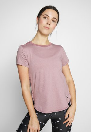 ARMOUR SPORT CROSSBACK - T-shirt imprimé - hushed pink/black