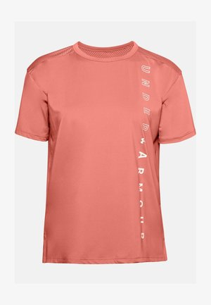 Print T-shirt - blush orange