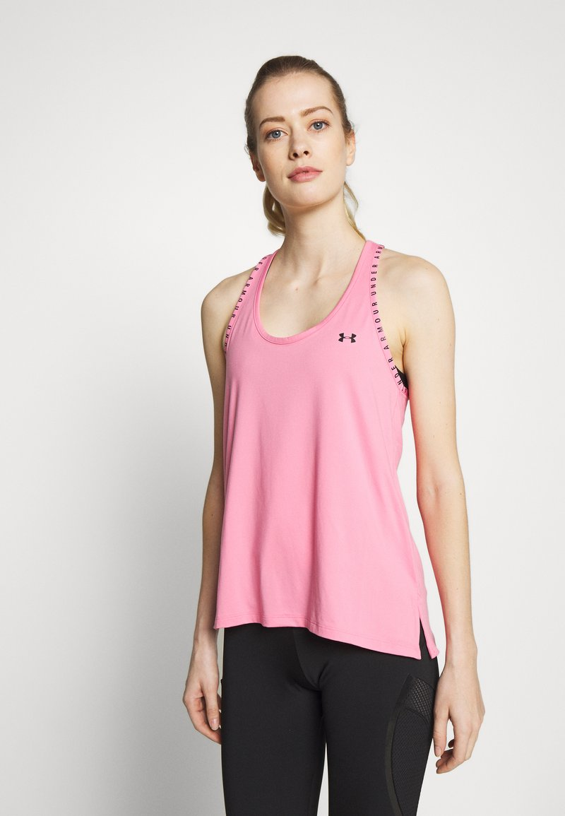 Under Armour - UA KNOCKOUT TANK - Top -  lipstick/black