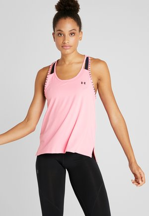 KNOCKOUT TANK - T-shirt sportiva -  lipstick/black