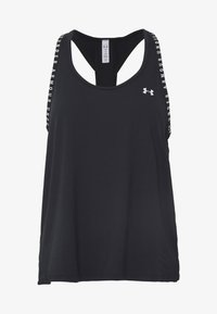 Under Armour - UA KNOCKOUT TANK - Top - black/white - 6