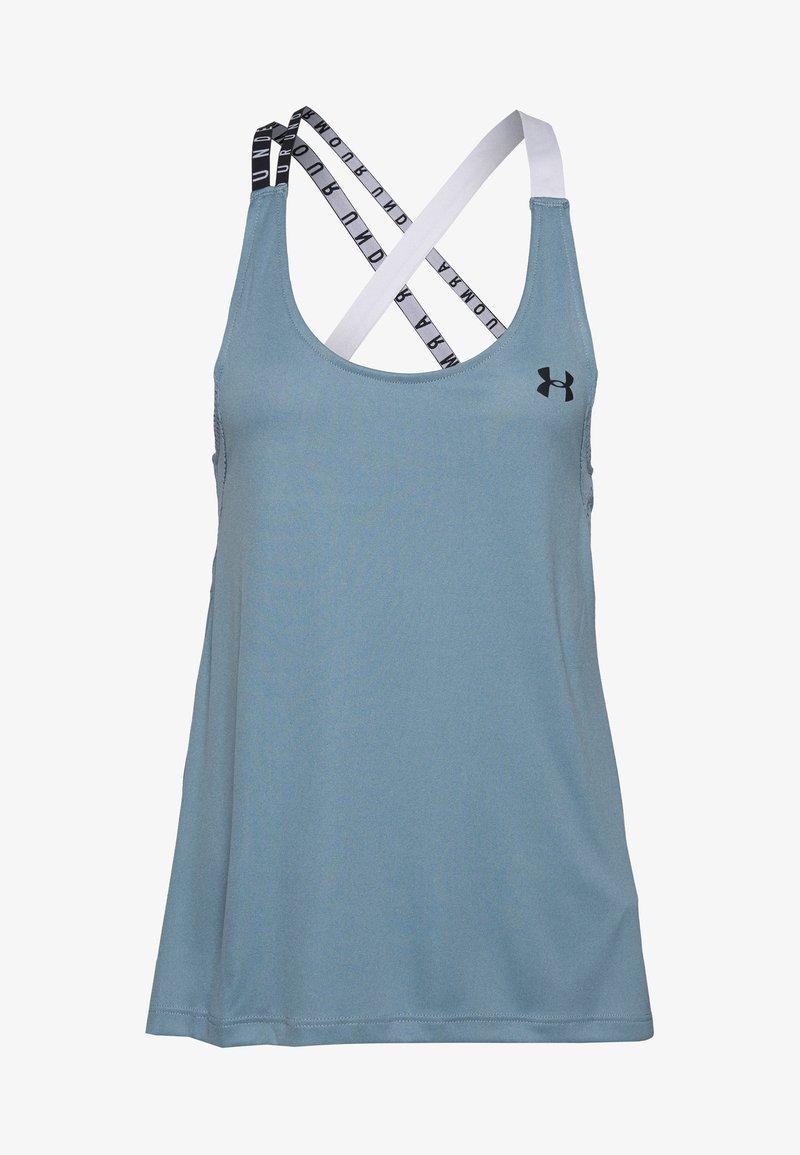 Under Armour - UA HG ARMOUR WM DOUBLE STRAP TANK - T-shirt de sport - hushed turquoise/halo gray/black
