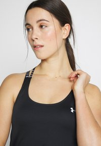 Under Armour - UA HG ARMOUR WM DOUBLE STRAP TANK - Treningsskjorter - black/white - 3
