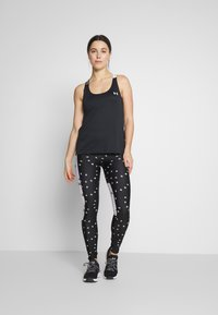 Under Armour - UA HG ARMOUR WM DOUBLE STRAP TANK - Treningsskjorter - black/white - 1