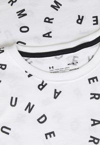 Under Armour - LOGO PRINT LIVE - Print T-shirt - white/black - 2