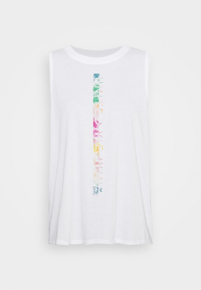 PRIDE FASHION GRAPHIC TANK - T-shirt de sport - white