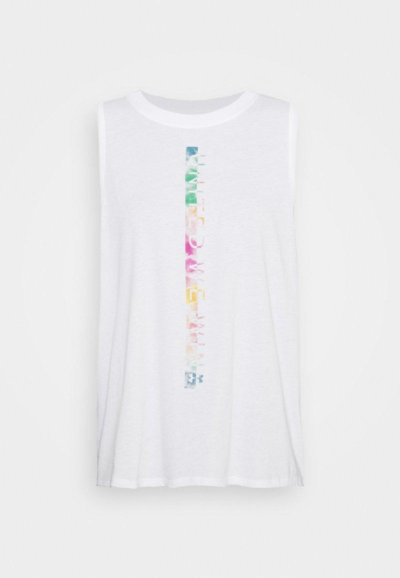 Under Armour - PRIDE FASHION GRAPHIC TANK - Camiseta de deporte - white