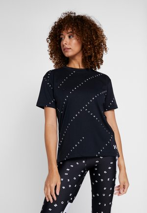 LOGO LIVE - Print T-shirt - black/white