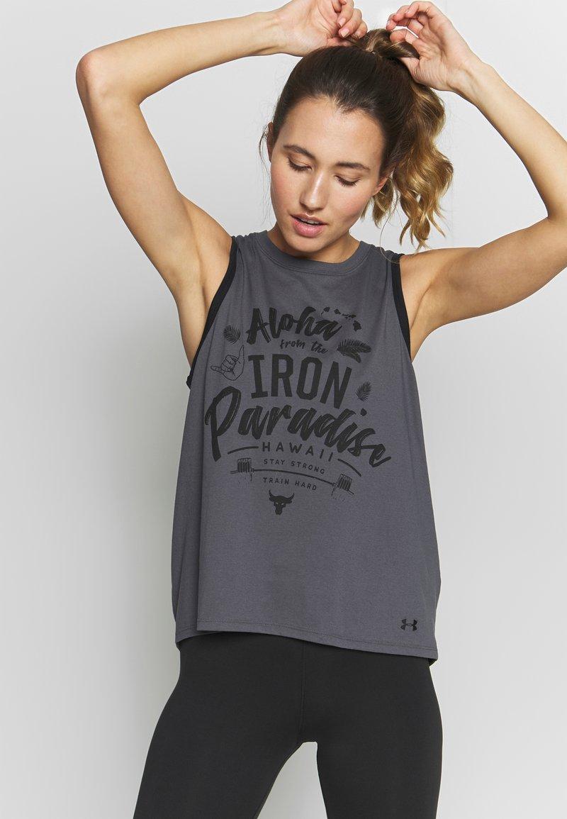 Under Armour - PROJECT ROCK ALOHA TANK - Sports shirt - pitch gray/black