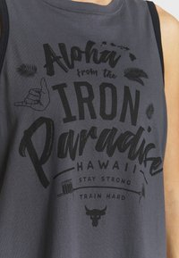 Under Armour - PROJECT ROCK ALOHA TANK - Sports shirt - pitch gray/black - 4