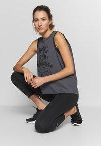 Under Armour - PROJECT ROCK ALOHA TANK - Sports shirt - pitch gray/black - 1