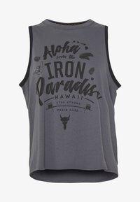 Under Armour - PROJECT ROCK ALOHA TANK - Sports shirt - pitch gray/black - 3