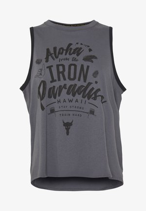 PROJECT ROCK ALOHA TANK - Sportshirt - pitch gray/black