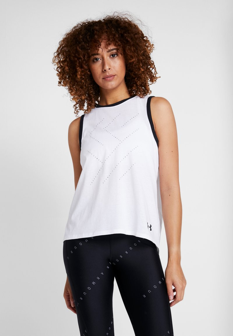 Under Armour - STEP GRAPHIC LIVE - Sports shirt - white/black
