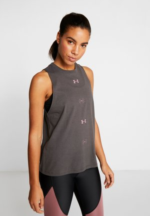 GRAPHIC MUSCLE  - Sports shirt - jet gray /hushed pink