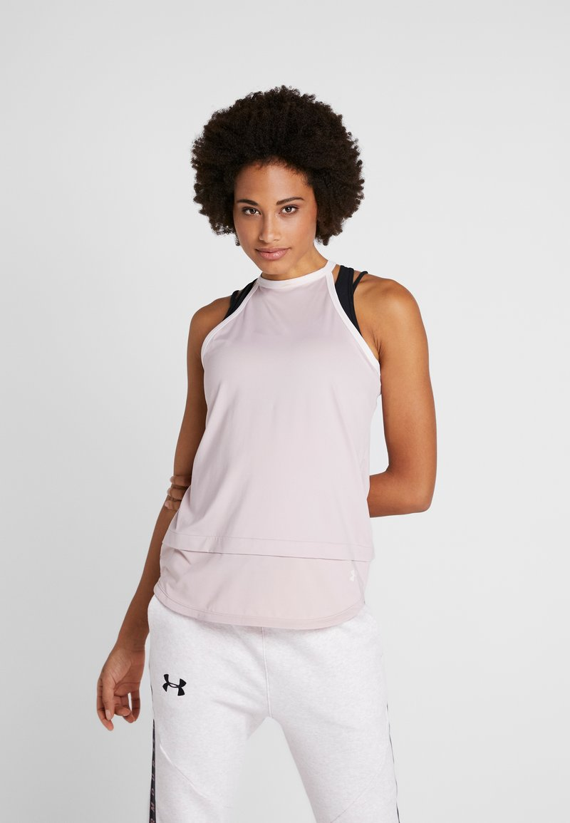 Under Armour - SPORT TANK - Sports shirt - dash pink/french gray