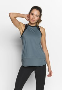 Under Armour - SPORT TANK - Treningsskjorter - hushed turquoise/black - 0